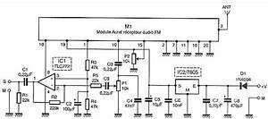 Wireless Receiver Microphone Circuit