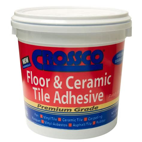 home depot wall tile glue crossco 1 gal floor and ceramic tile adhesive ad160 4 on
