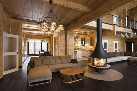 hotel chambre familiale intérieur luxueux d une maison en bois de la finlande