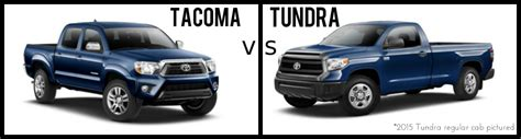 toyota tacoma vs tundra differences between the 2015 toyota tacoma and the 2015