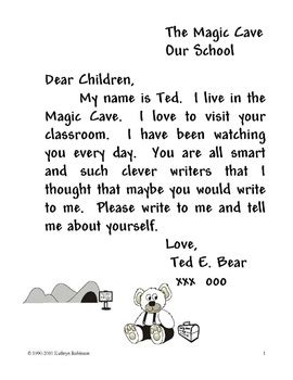 how to write a friendly letter kindergarten first second grade writing