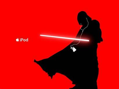 Ipod Apple Silhouette Ad Star Wars Vader