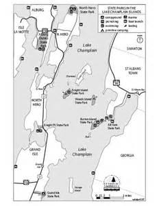 Vermont Lake Champlain Islands Map