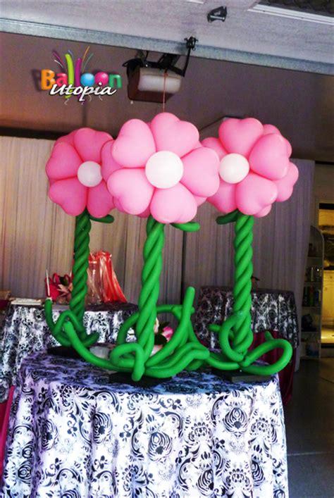 san diego flower theme decor  balloon utopia