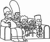 Simpsons Coloring Pages Couch Sofa Wecoloringpage Simpson Bart Drawings Printable Drawing Lisa Colouring Sheets Homer Getcolorings Cartoon Vector Getdrawings Easy sketch template