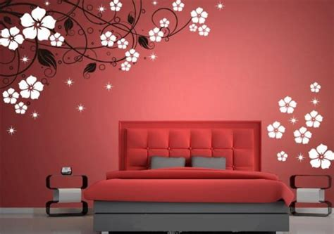 Bedroom Wall Paint Design Romantic Wall Paint Design For