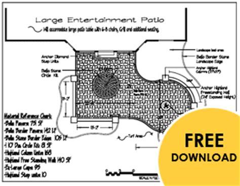 landscaping patio ideas   patio plan downloads
