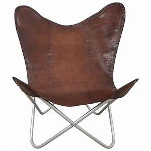 Lounge Sessel Leder Braun : butterfly chair echt leder stuhl sessel braun glatt vintage design loft lounge sessel sofa ~ Bigdaddyawards.com Haus und Dekorationen