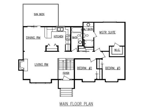 design lines  plan  split level
