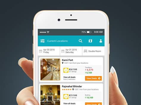 Booking Mobile by Hotel Booking App Design Mobile Ui Exles Hotel