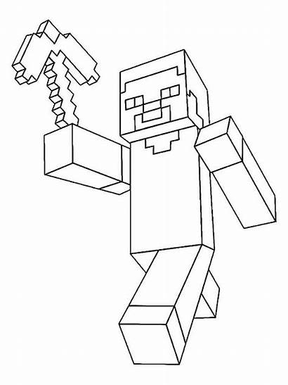 Minecraft Coloring Pages Printable Mode Story Cartoon