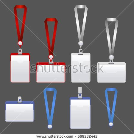 lanyard  tag holder  badge stock vector