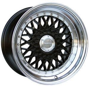 lenso bsx 4x100 15 lenso bsx alloy wheels staggered silver polished lip 4x100 4x108 5x100 ebay