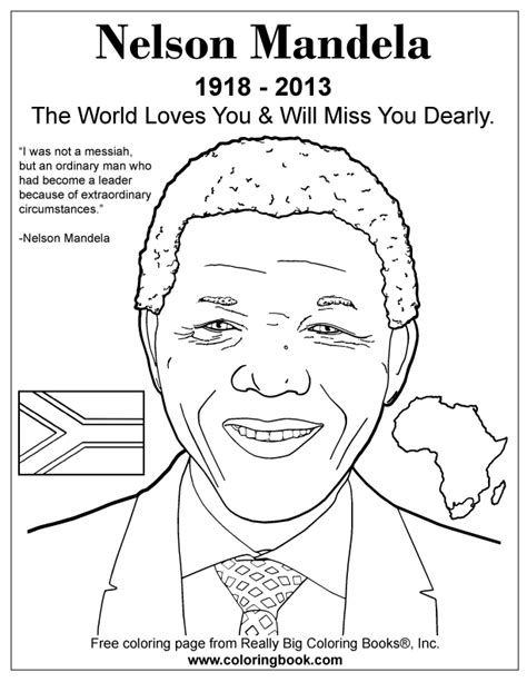 coloring books nelson mandela free coloring page