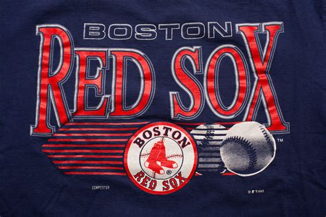 Red Sox Logo Wallpaper Vintage 90s Boston Red Sox Logo T Shirt Forthesportsfan Com