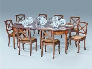 Table De Salle A Manger Ovale : table de salle a manger ovale en acajou et placage ~ Teatrodelosmanantiales.com Idées de Décoration