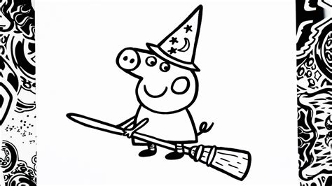 como dibujar  peppa halloween   draw peppa pig