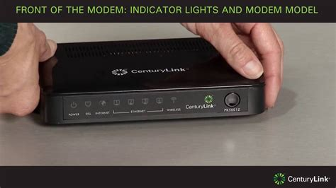 centurylink dsl light tour of modem front of the modem