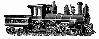 Train Drawing Steam Digital Stamp Railroad Trains