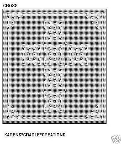 cross filet crochet pattern ebay