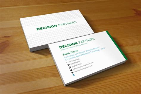 Decision Partners Business Cards Spring Loaded Business Card Dispenser Design In Coreldraw Free Download Music Visiting Vector Spinning Display Brochure And Stand Holders Wallet Brighton Holder For Desk American Collectors