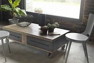 coffee table industrial style coffee table on wheels With industrial style round coffee table