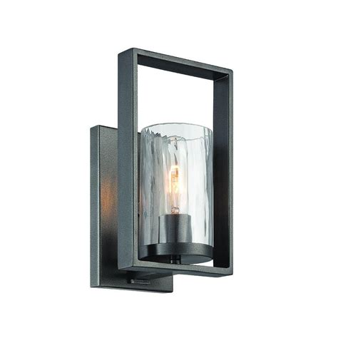 home interior wall sconces designers fountain elements 1 light charcoal interior incandescent bath vanity light 86501 cha