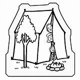 Coloring Camping Toddlers Tent Trip Road Adults Popular Dis Disney Jtanddolly Coloringhome sketch template
