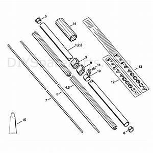 Stihl Fs 110 Brushcutter  Fs110r  Parts Diagram  Drive Tube Assembly