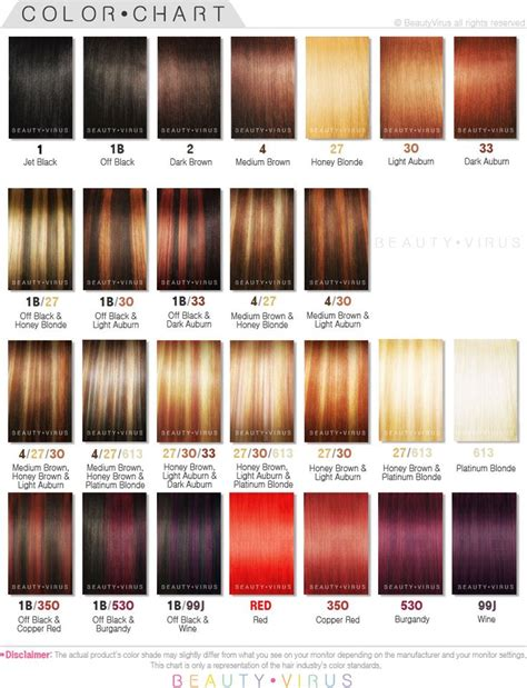 Hair Color Shades by Wonderful Ion Hair Color Chart With Image Of Hair