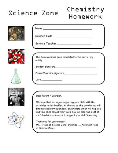 year 7 chemistry hw and activities by cermon teaching resources
