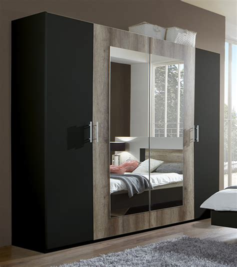 armoires chambres armoire 4 portes francy lave chene sauvage