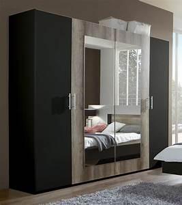 Armoire 4 Portes : armoire 4 portes francy lave chene sauvage ~ Teatrodelosmanantiales.com Idées de Décoration