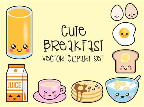 cuisine kawaii premium vector clipart kawaii breakfast clipart kawaii