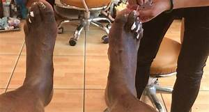 shaq got a pedicure to help with his disgusting
