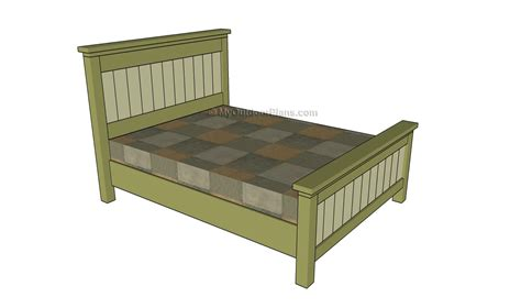 king size bed frame plans myoutdoorplans  woodworking plans  projects diy shed
