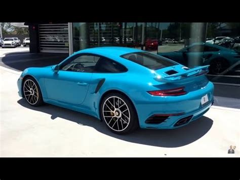 miami blue porsche turbo s 2017 miami blue porsche 911 turbo s 580 hp porsche west