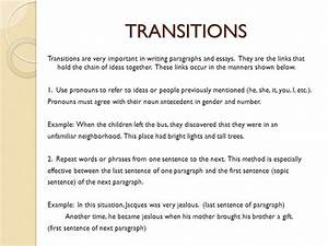 Transitional sentences for essays sample essay introduction myself ...