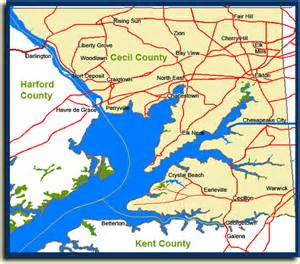 Cecil County Maryland Map