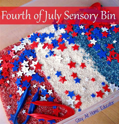 patriotic crafts and activities for explores 878 | Fourth of July Sensory Bin Stay At Home Educator 959x1000
