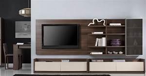 Meuble Tele Moderne : meuble tv mural bas solutions pour la d coration int rieure de votre maison ~ Teatrodelosmanantiales.com Idées de Décoration