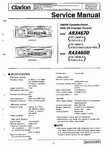 Clarion Arx4670 Rax460d Service Manual Download