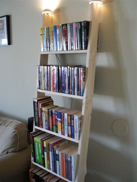 furniture fancy leaning bookcase   book organizer