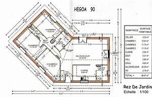 plan maison gratuit plain pied 3 chambres evtod With plan de maison 90m2 plain pied