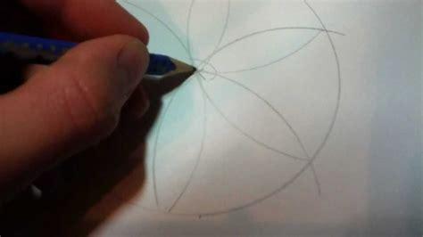 geometrie blume mit zirkel zeichnen youtube