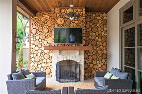 ways  incorporate wood slices   interior