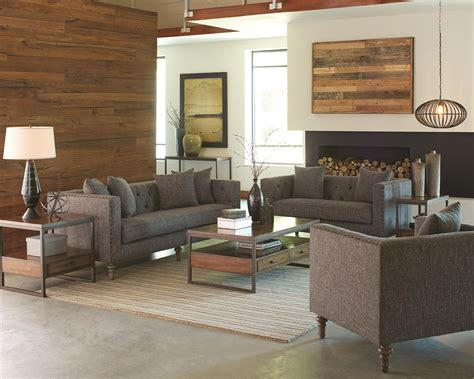 Coaster Ellery 505771 Sofa With Traditional Industrial