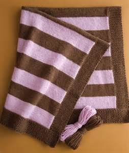 Striped Knitted Baby Blanket Pattern