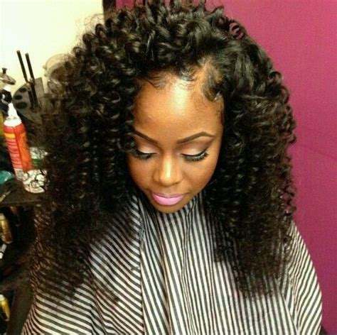 Curly Sew In Weave Hairstyles by Curly Side Part Sew In Hair Work 2