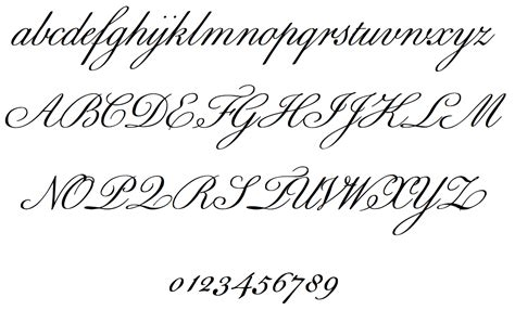 Spencerian And Copperplate Roundhand
